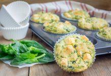 Mini muffins met spinazie en feta